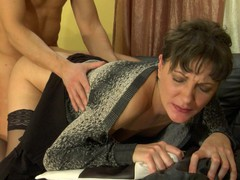 Nasty mother i'd like to fuck finds pleasure from seducing a muscle stud into mighty dicking
