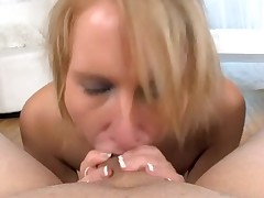 Hot babe is charming dude with wicked irrumation