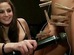 Slutty sex serf acquires a naughty public castigation