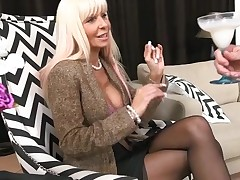 Horny mother I'd like to fuck without hesitation jumps onto a hard dong